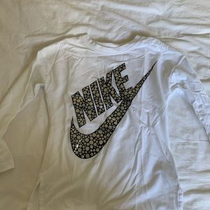 Nike white long sleeve top